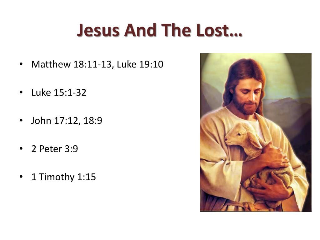 Jesus And The Lost…