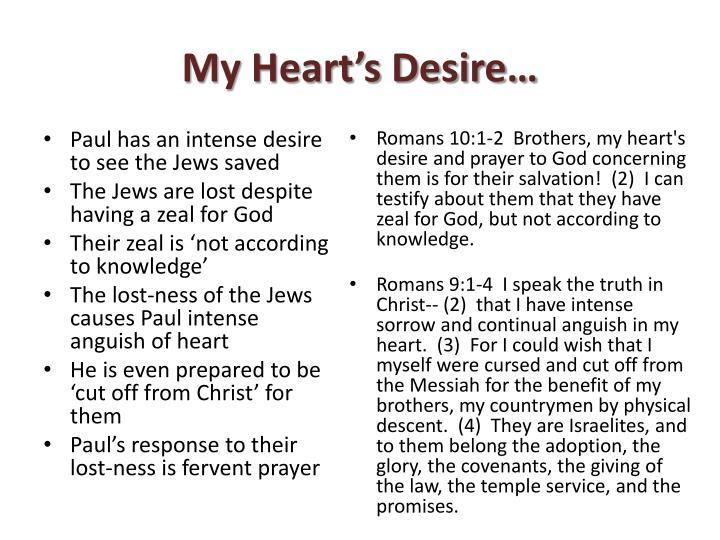My heart s desire