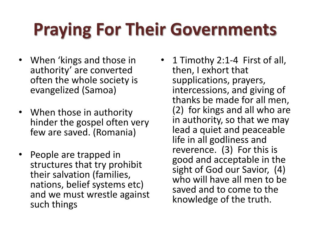 Praying For Their Governments