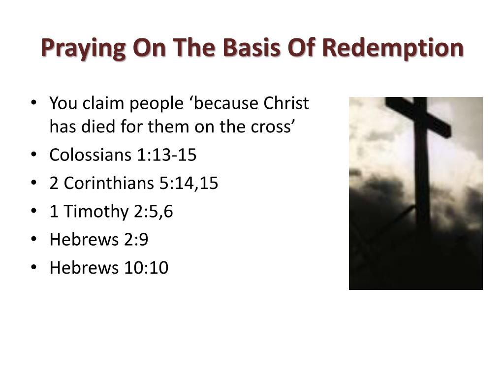 Praying On The Basis Of Redemption