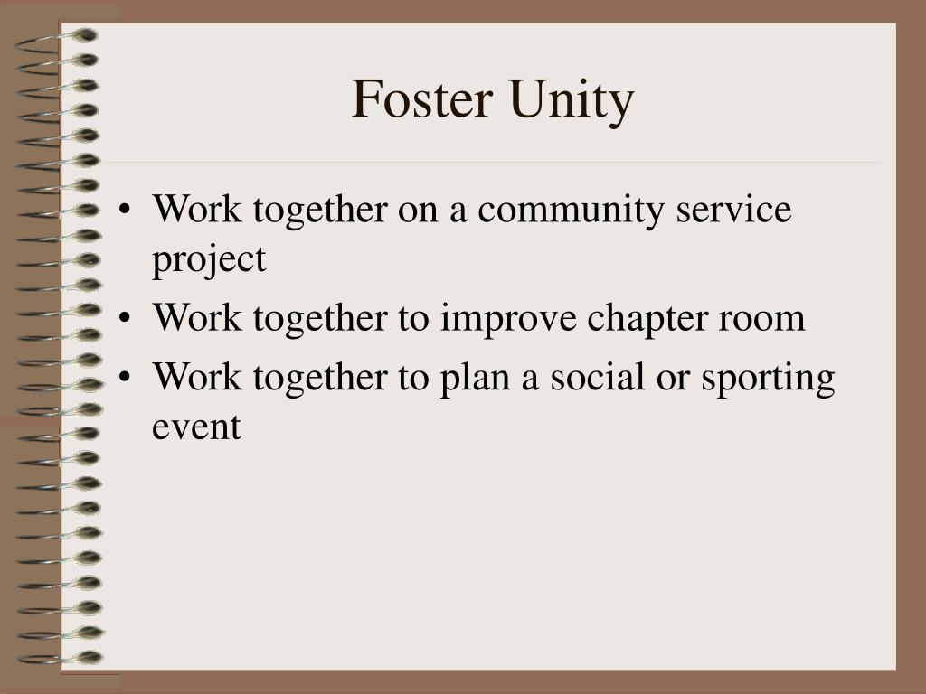 Foster Unity