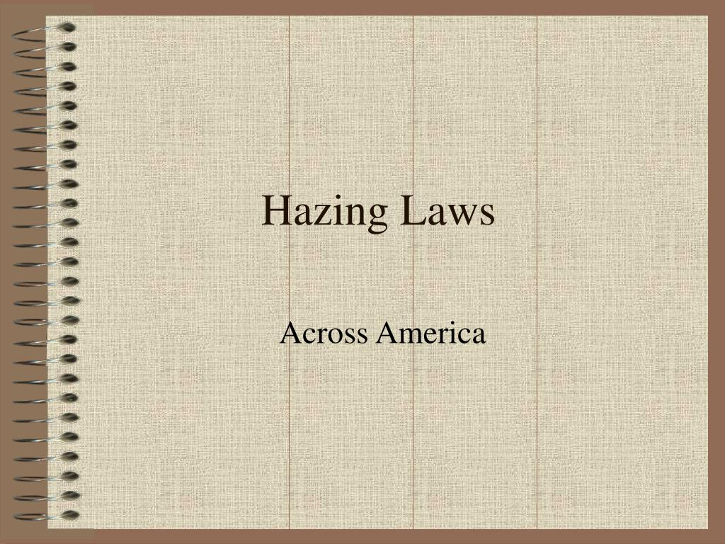 Hazing Laws
