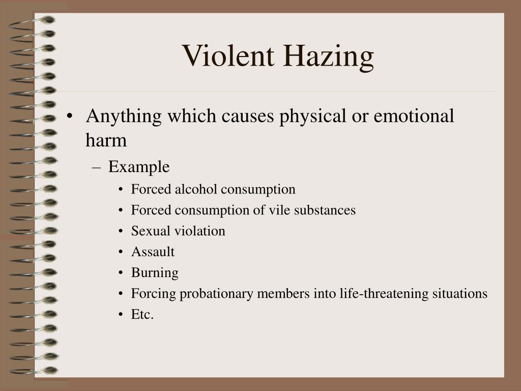 Violent Hazing