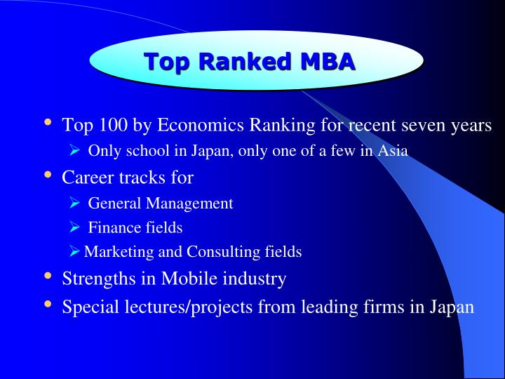 Top Ranked MBA