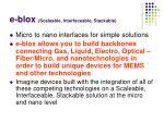 e blox scaleable interfaceable stackable
