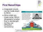first nanochips