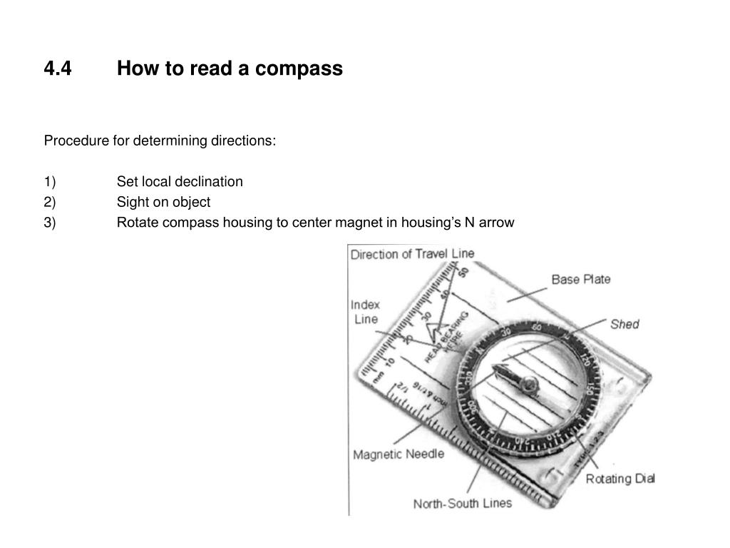4.4	How to read a compass
