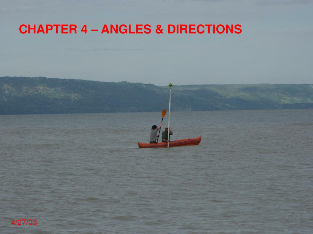 CHAPTER 4 – ANGLES & DIRECTIONS