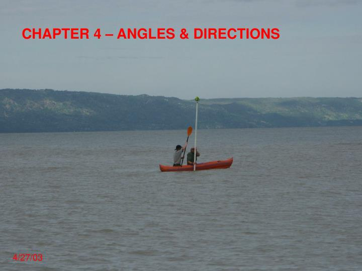 Chapter 4 angles directions