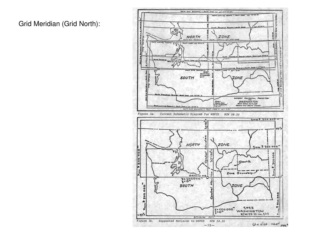 Grid Meridian (Grid North):