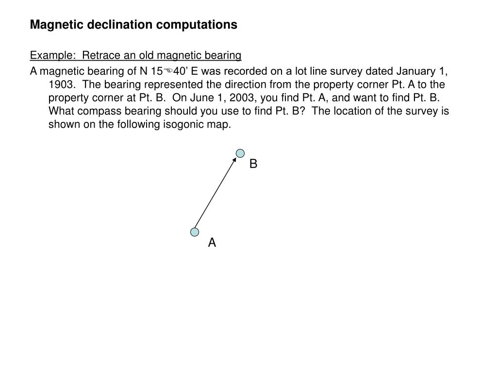 Magnetic declination computations