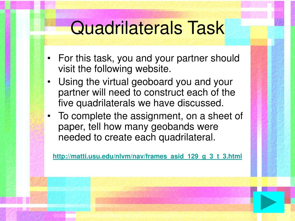 Quadrilaterals Task
