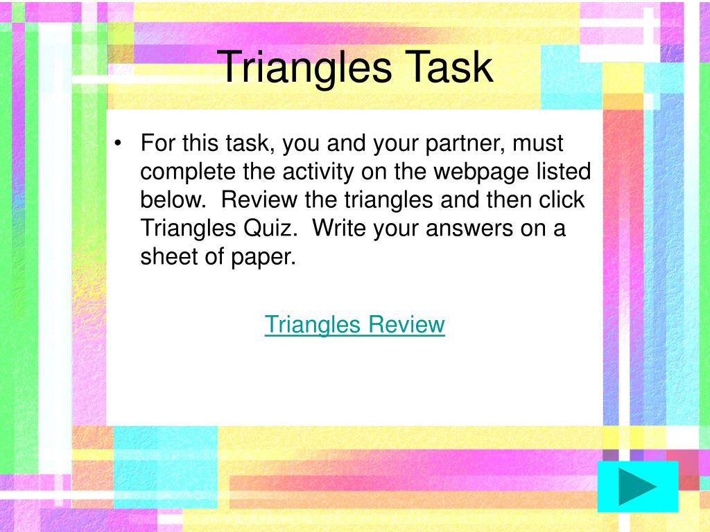 Triangles Task