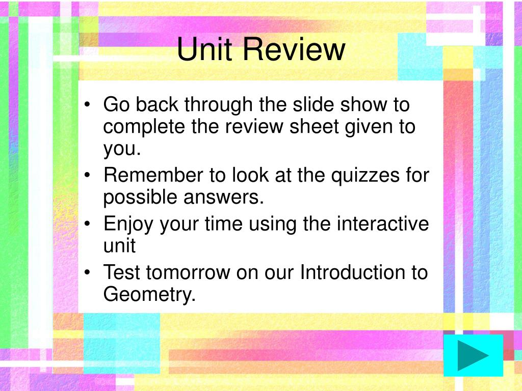 Unit Review