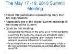 the may 17 19 2010 summit meeting