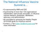 the national influenza vaccine summit is