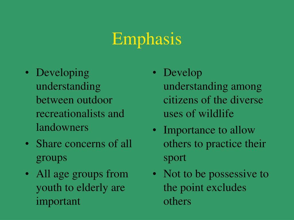 Developing understanding between outdoor recreationalists and landowners