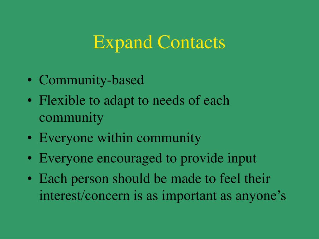 Expand Contacts