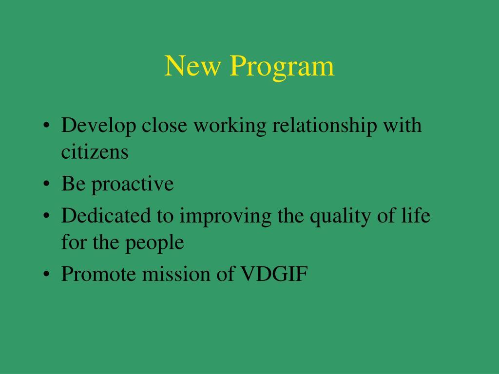 New Program