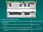 fabrication of harpss 2