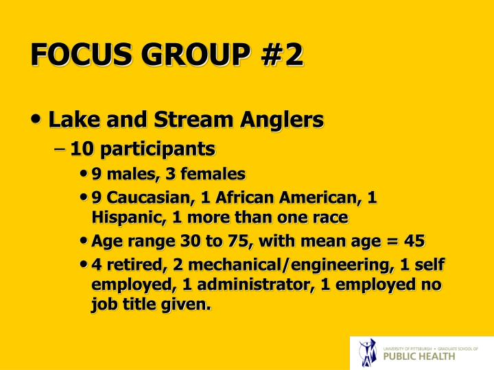 FOCUS GROUP #2