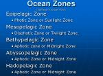 ocean zones surface to ocean floor