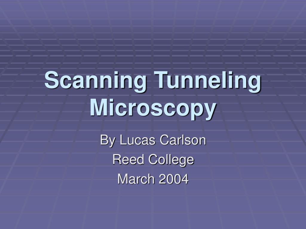scanning tunneling microscopy l.