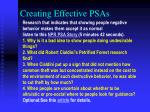creating effective psas