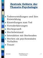 zentrale gebiete der thanato psychologie