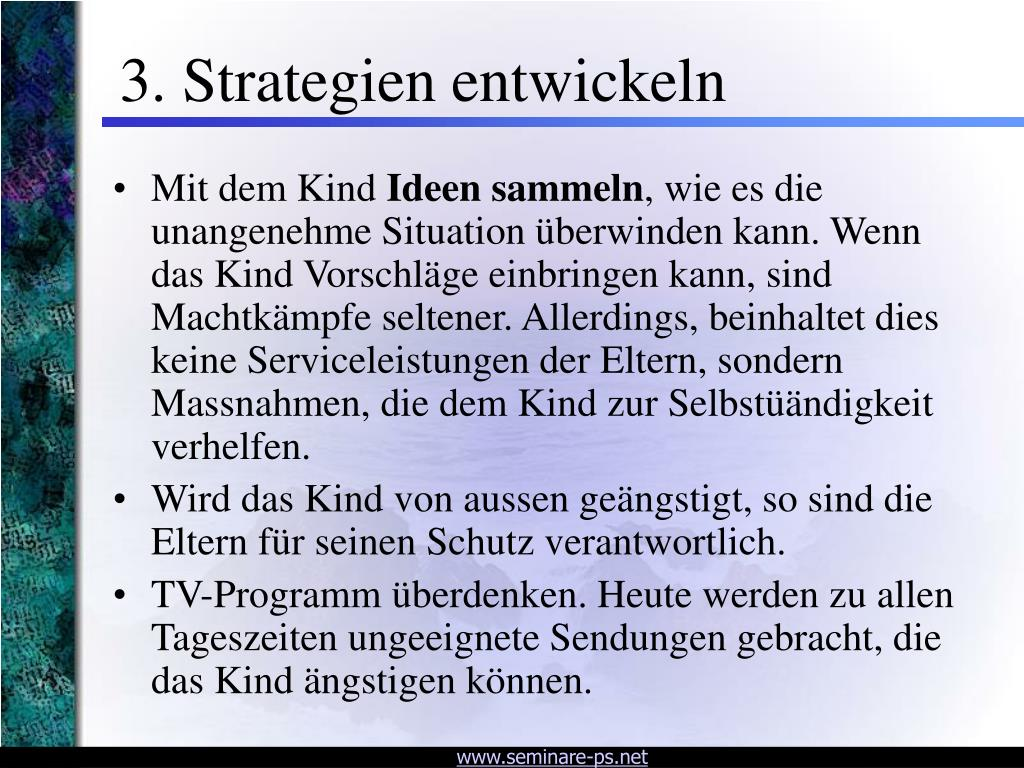 3. Strategien entwickeln