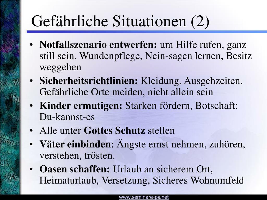 Gefährliche Situationen (2)