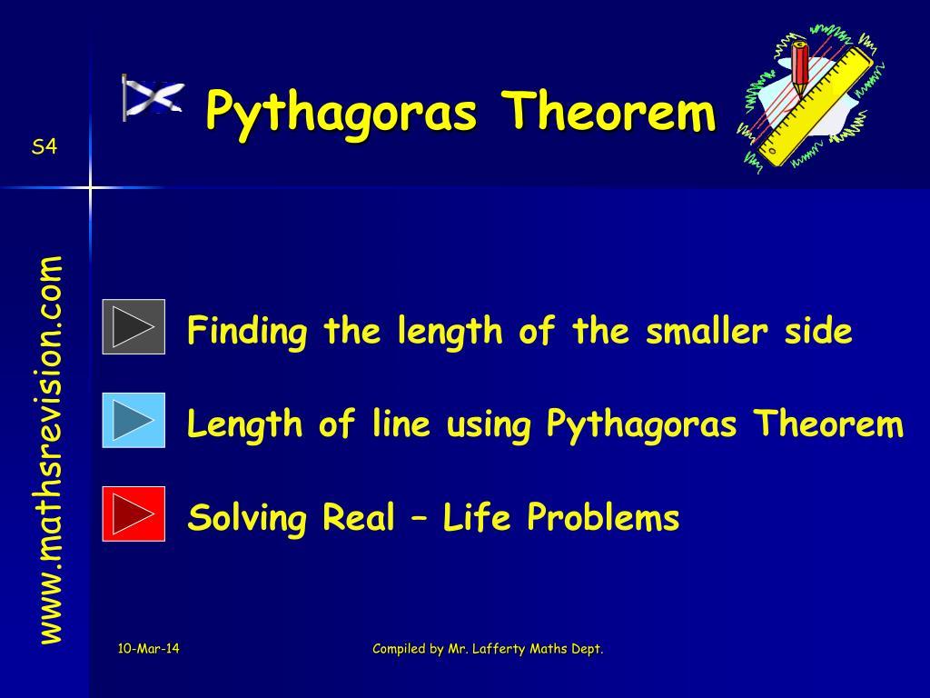 pythagoras theorem l.