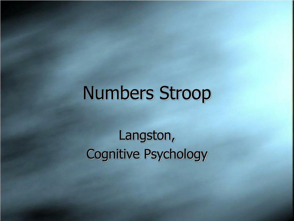 numbers stroop l.