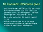 10 document information given