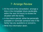 7 arrange review