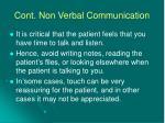cont non verbal communication