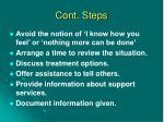 cont steps