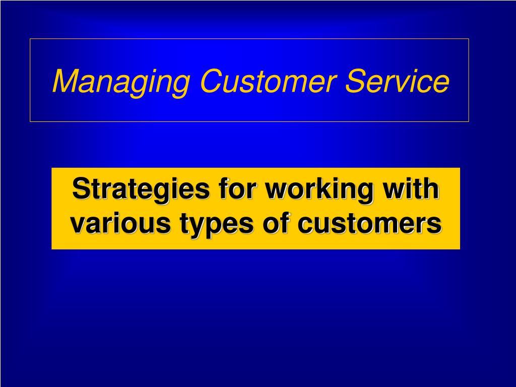 managing customer service l.