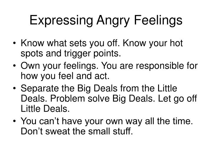 Expressing angry feelings3