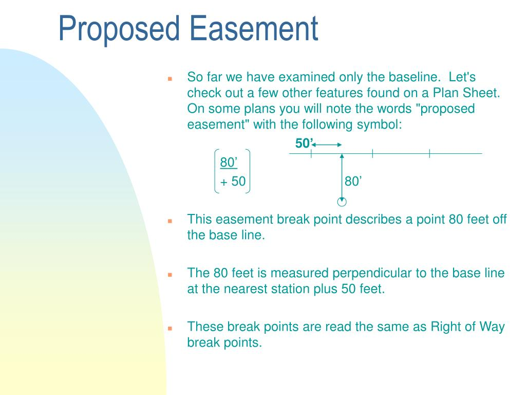 Proposed Easement