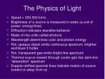 the physics of light