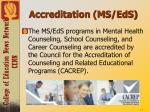 accreditation ms eds