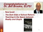 congratulations to dr jeff brooks elps
