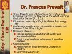 dr frances prevatt
