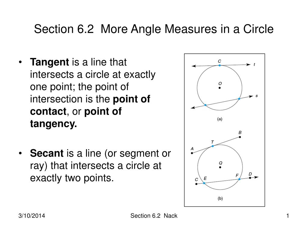 section 6 2 more angle measures in a circle l.