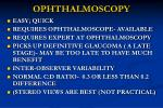 ophthalmoscopy