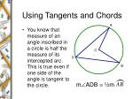 using tangents and chords