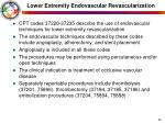 lower extremity endovascular revascularization36