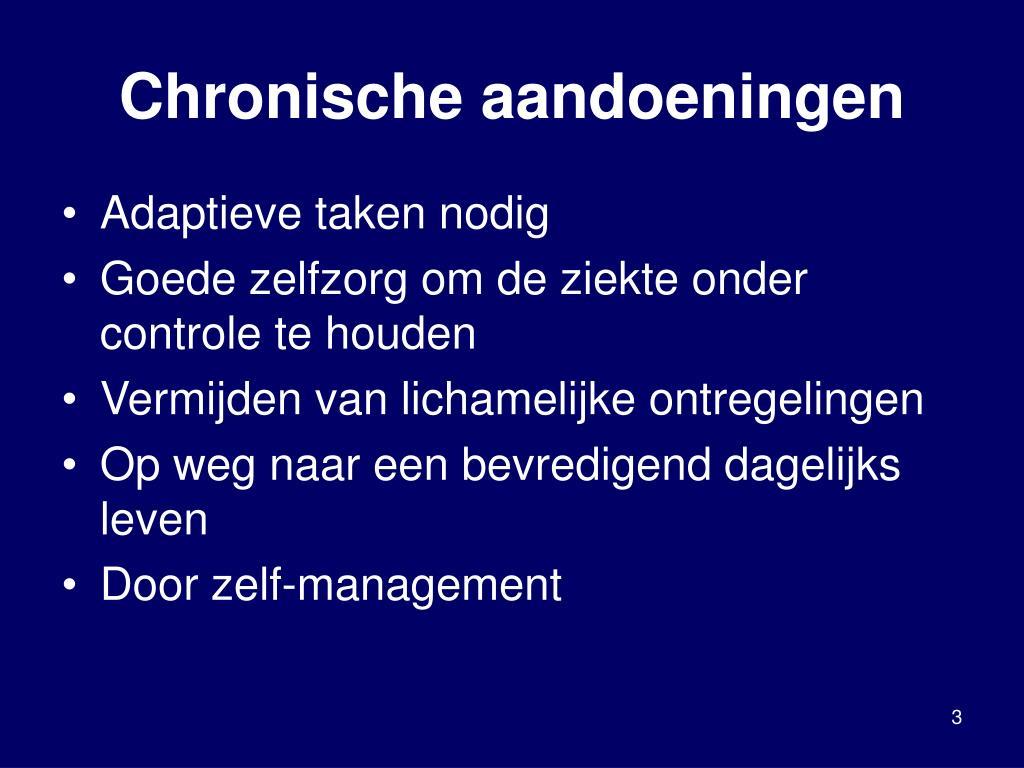 Chronische aandoeningen