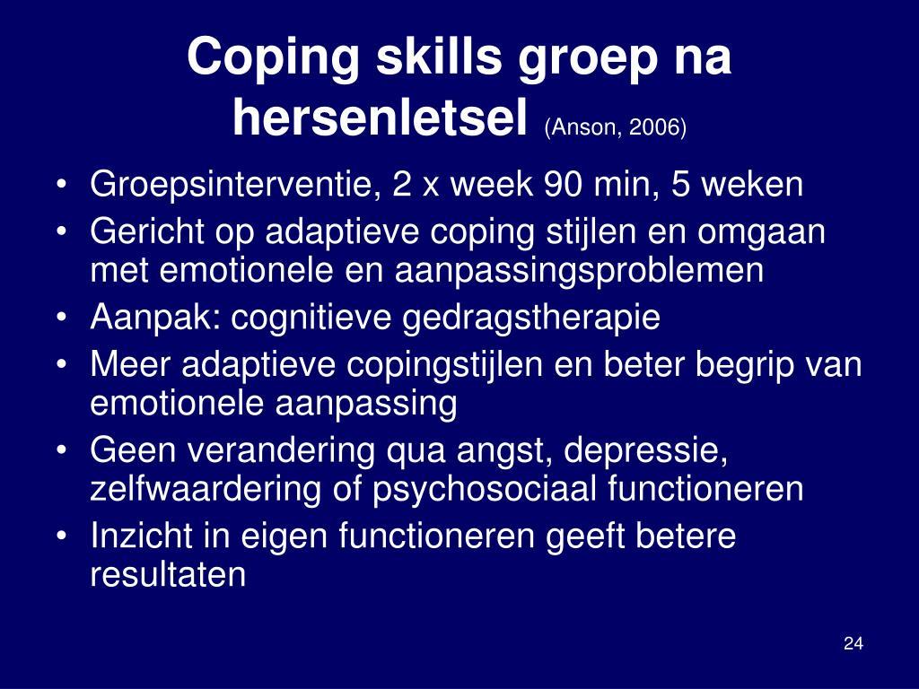 Coping skills groep na hersenletsel